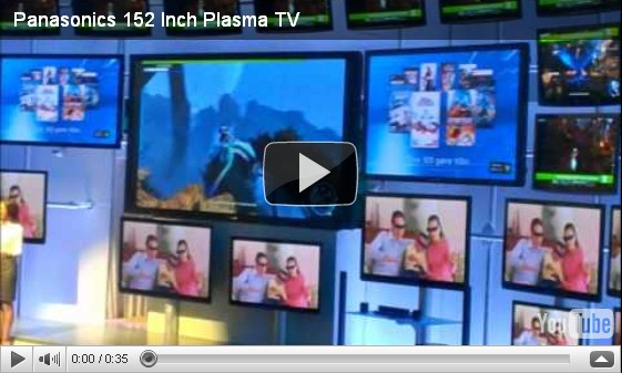 Panasonic 152 inch TV